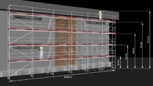 RAM1 Fire høyder (10m - 10,6m) - Stillaspakke 194 kvm